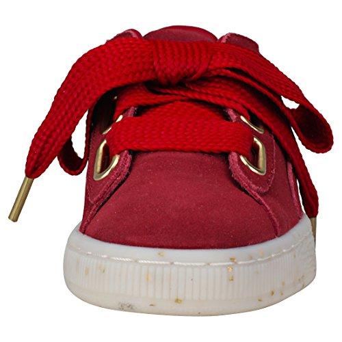Suede 02 Celebrate Puma En Rouge Daim Chaussures 365561 Heart Femme PwRqERU