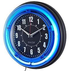 Jim's Classic Clocks 12 Inch Neon Custom Photo Wall Clock-Add Any Photo Free!