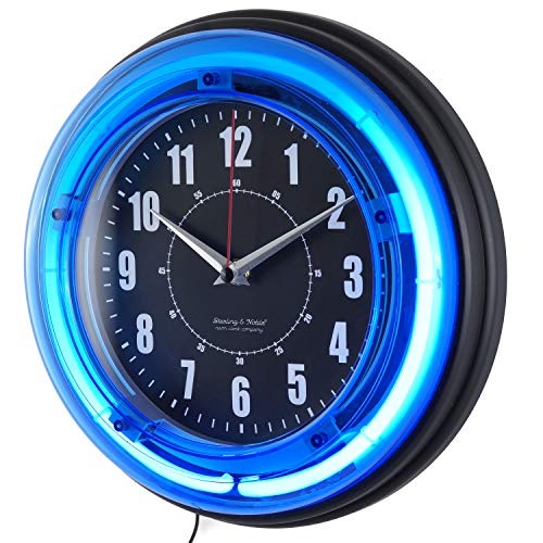 Jim's Classic Clocks 12 Inch Neon Custom Photo Wall Clock-Add Any Photo ()