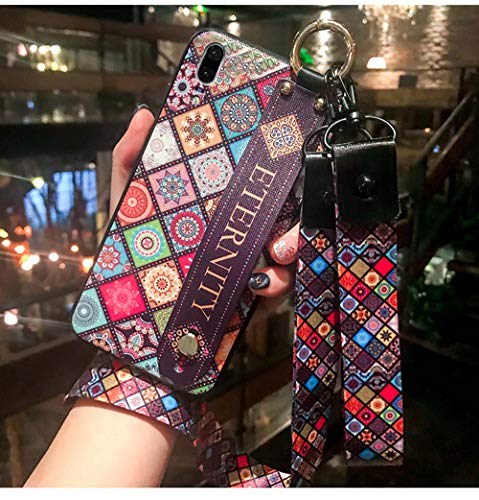 Mobile phone shell Huawei silicone simple Huawei personality creative all-inclusive P20 lanyard totem bracelet female models