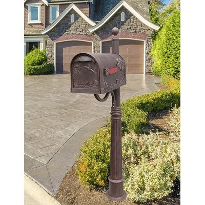 - Special Lite Hummingbird Curbside Mailbox with Ashland Mailbox Post Unit