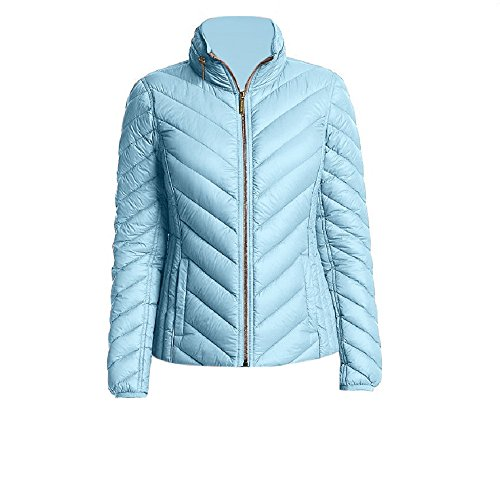 Michael Michael Kors Light Blue Chevron Down Packable Coat ()