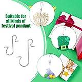 200 Pieces Ornament Hooks Metal Wire Hooks Metal