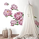 RoomMates RMK3893GM Large Peony Peel and Stick Giant Wall Decals, Pink Gree, 2