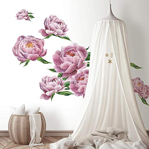 (RoomMates Large Peony Peel And Stick Giant Wall Decals)
