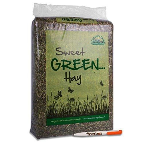 14KG Nature's Own Sweet Green Hay Pet Food Dust Extracted Animal Feed & Tigerbox Antibacterial Pen