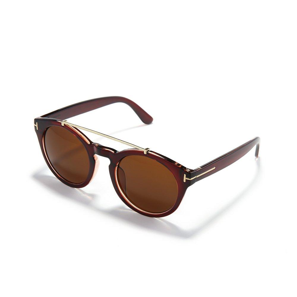 Gafas de sol retro de moda Metal T-Circle Gafas de sol ...