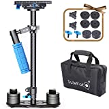 Sutefoto Handheld Camera Stabilizer DSLR Gimbal Steadicam Carbon Fiber 24''/60cm up to 6.61lbs/3kg with Quick Release Plate 1/4'' and 3/8'' Screw for Nikon/Canon/Sony/Panasonic and Video DV