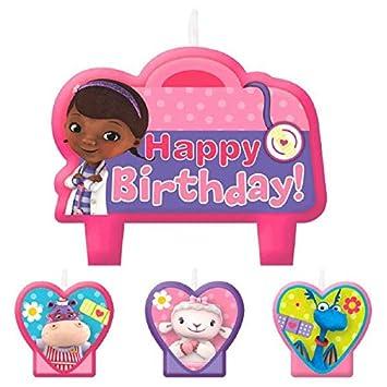 Disney Doc McStuffins velas de cumpleaños: Amazon.es ...