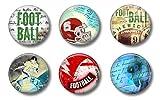 Locker Magnets For Boys - Football Magnets - Fun School Supplies - Whiteboard Office or Fridge - Funny Magnet Gift Set (Football)