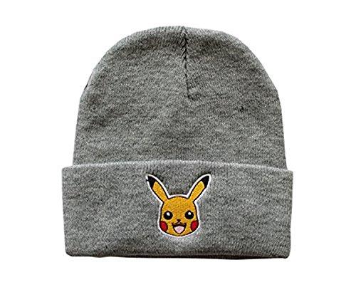 Hombre Punto FineApparel Grey para de Pikachu Gorro 0xBgFp