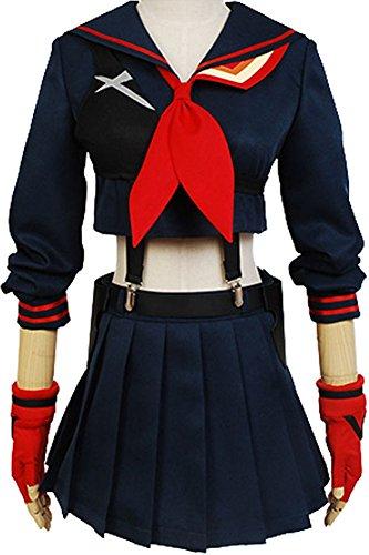 Ryuko Matoi Cosplay Costume (CosplaySky KILL la KILL Costume Ryuko Matoi Cosplay Uniform Dress Medium)