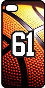 Basketball Sports Fan Player Number 61 Black Plastic Decorative iPhone 6 PLUS Case
