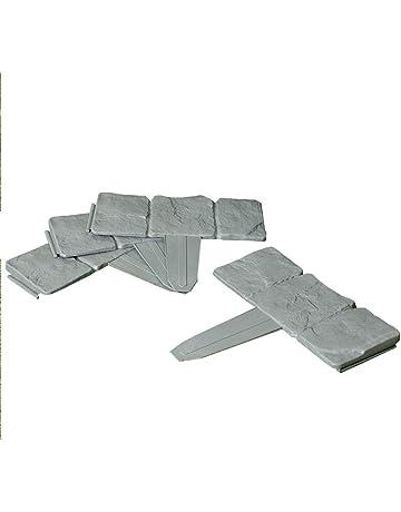 10 piezas de piedra con efecto de martillo en Patio Bordes Border