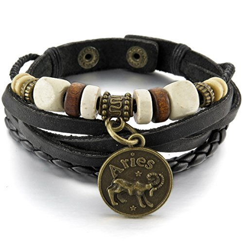 INBLUE Genuine Bracelet Horoscope Adjustable
