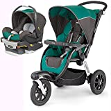 Chicco Activ3 Jogging Stroller with KeyFit 30 Infant Car Seat Travel System - Energy