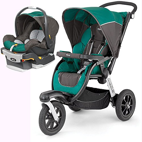 Chicco Activ3 Jogging Stroller with KeyFit 30 Infant Car Sea