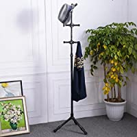 Industrial Retro Iron Pipe Bedroom Office Living Room Clothing Store Coat Stands Rack Hanger Clothes Storage Rack (black)