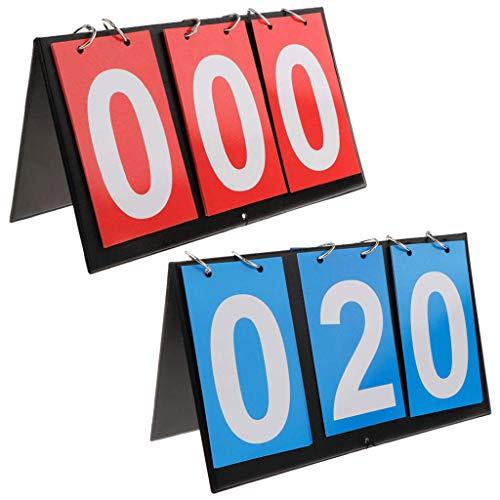 APORO 6-Digital Portable Table Top Scoreboard Flipper, Multi Sports Score Flip Scoreboard (0-999)