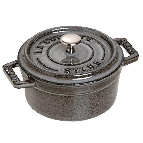 Staub Mini Round Cocotte - 0.25Qt - Graphite Grey