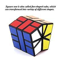 Qm-h Special Shape Speed Magic Cube Sticker Black