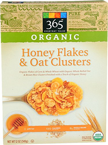 365 Everyday Value, Organic Honey Flakes & Oat Clusters, 12 Ounce 51gkDACThSL