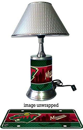 Minnesota Wild Lamp with chrome - Wild Nhl Lamp Minnesota