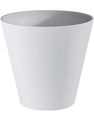 TERAPLAST Re-Pots Hoops - Bote ecológico en plástico Reciclado y reciclable, Hecho en