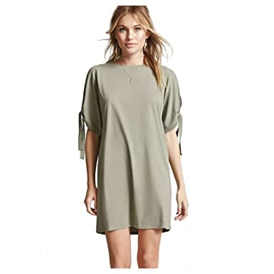 6ad6964470 TOOGOO(R) Women's Casual Clothing Summer Mini Dress Simple Fashion Bandage  Short Sleeve Round