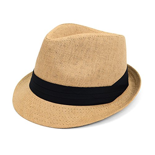 WESTEND Men & Women Summer Fedora Hat with Black Band