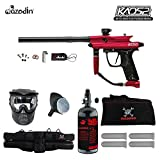 Azodin Kaos 2 Beginner HPA Paintball Gun Package B - Red / Black
