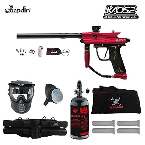 Gas Thru Grip (Azodin Kaos 2 Beginner HPA Paintball Gun Package B - Red / Black)