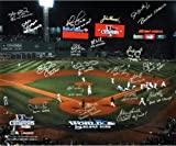 Boston Red Sox 2013 World Series Champs Team Autographed Photograph #3/13 with 20 signatures and inscriptions