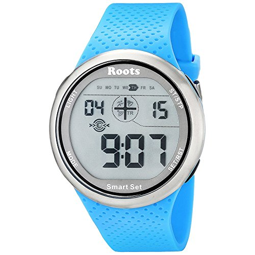 Roots Men's 1R-AT404AQ1A Cove Digital Display Quartz Blue Watch