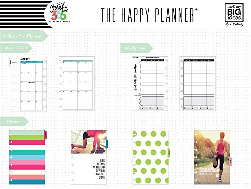 Me & my BIG ideas Create 365 The Mini Happy Planner, Fitness, 12 Month Planner, January 2017 - December 2017