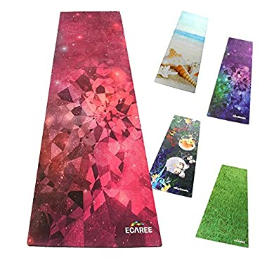 J-so 017 All-Purpose Eco Yoga Mat,3.5mm Thick,2 in 1 Designed(Mat/Towel),Foldable,Reversible,Machine Washable,Biodegradable Materials,Yoga Strap and Spray Bottle Set.Money Back Guarantee.