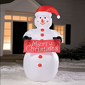 Amazon.com: 8' Airblown Inflatable Snowman Lighted ... on Backyard Decorations Amazon id=90785