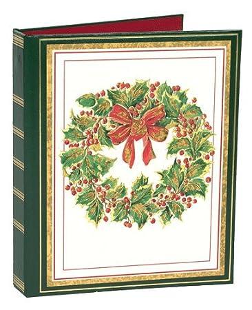 Amazon christmas card address book to organize greeting cards christmas card address book to organize greeting cards sent and received embossed wreath m4hsunfo