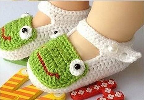 tfxwerws bebé recién nacido calcetines de punto Crochet sandalias ...