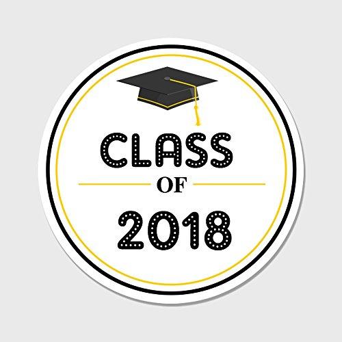 40 Class of 2018 Envelope Seals - Graduation Party Favor Stickers (Graduation Sticker Seals)