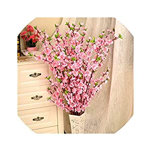 1pcs 65cm Artificial Flowers Peach Blossom Simulation Flower for Wedding Decoration Fake Flowers Home Decor 24