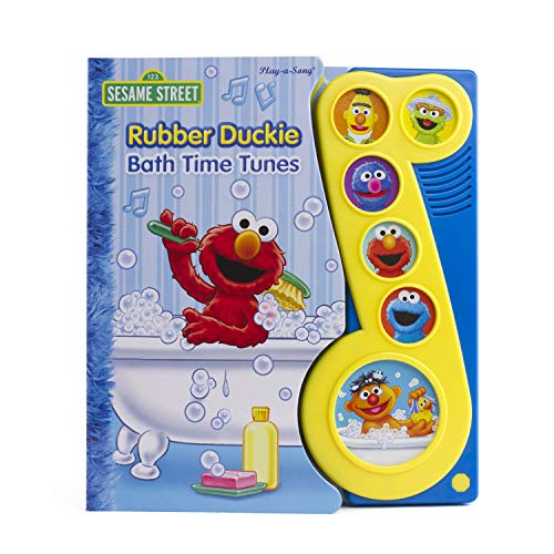 Sesame Street - Elmo & Friends Rubber Duckie Bath Time Tunes Sound Book - PI Kids