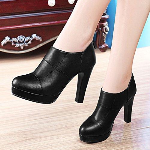 Helen Scarpe da ginnastica in primavera e estate con tacchi alti con scarpe singole impermeabili (nero) ( dimensioni : 34 yards )