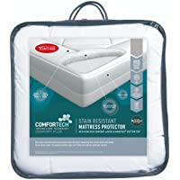 Tontine T6123 Comfortech Stain Resistant Mattress Protector, Single, White
