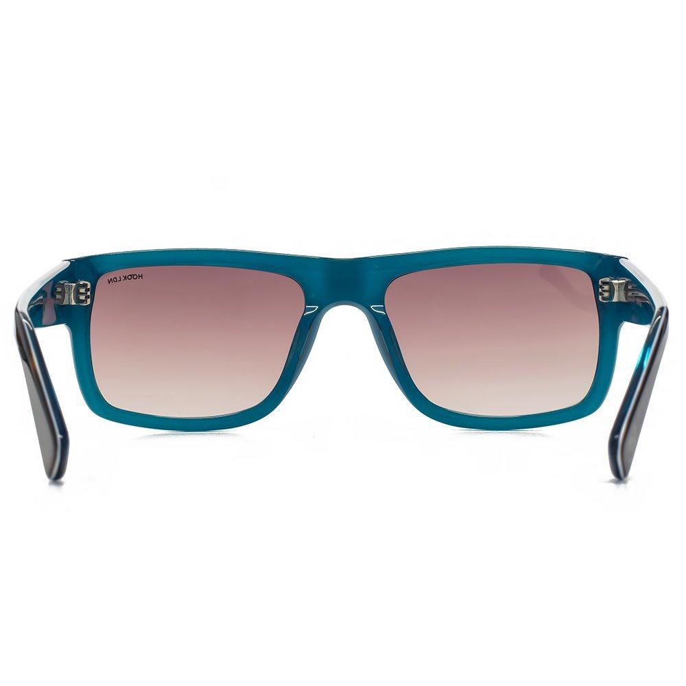 02ba0ba40b Hook LDN Blitz Rectangular Sunglasses in Tortoiseshell on Turquoise  HK003-TURQ  Amazon.co.uk  Clothing