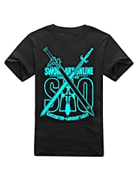 AnimeTown Sword Art Online Noctilucent Logo Short Sleeves Tee T-Shirt