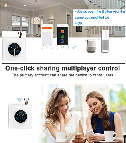 Wireless Garage Door Opener Remote WiFi Switch Universal Controlled by Smartphone for Automatic Gate Opener System(with Door Sensor) by Pearok (Image #5)