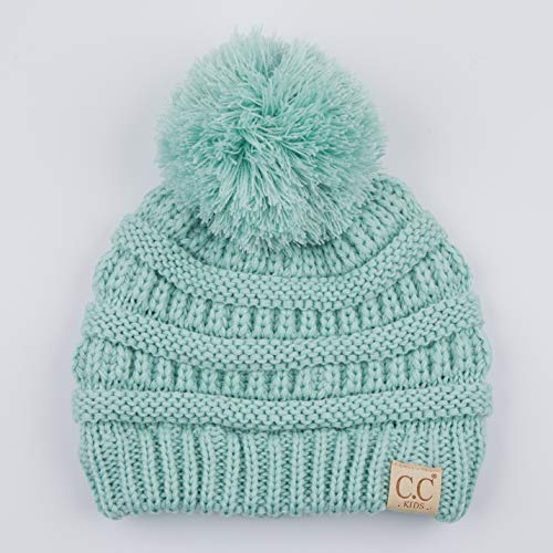 4fcf6956237 C.C Kids Beanie Ages 2-7 Warm Chunky Thick Stretchy Knit Slouch Beanie  Skull Kids