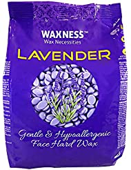 Waxness Wax Necessities Polymer Blend Luxury Face Hard Wax Beads Lavender Oil 14 Ounces
