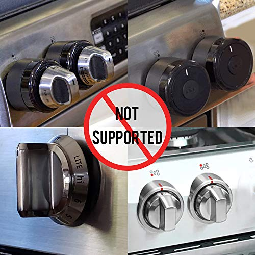 Eudemon Clear 6pack Safety Children Kitchen Stove Gas Knob Covers (6 Pack, Transparent) by EUDEMON (Image #3)